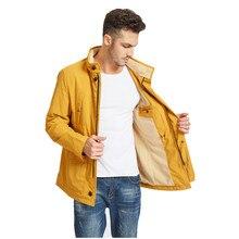 Весенняя куртка Мужская модная желтая Новая повседневная куртка с капюшоном уличная ветровка размера плюс брендовая одежда
