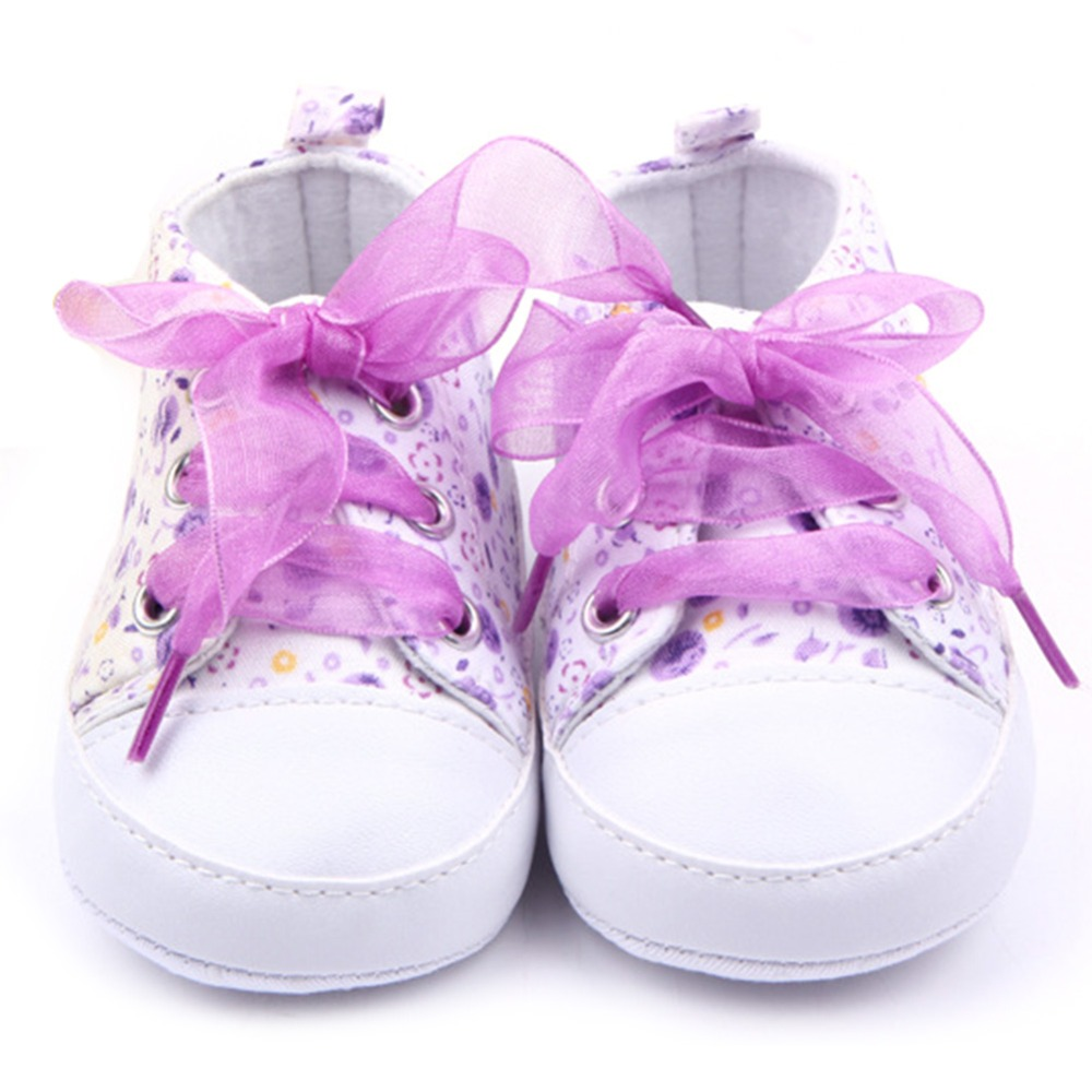 Newborn 0-12 Months Toddler Baby Girls Crib Shoes Soft Sole Anti-slip Floral Walk Sneaker First Walkers YL6