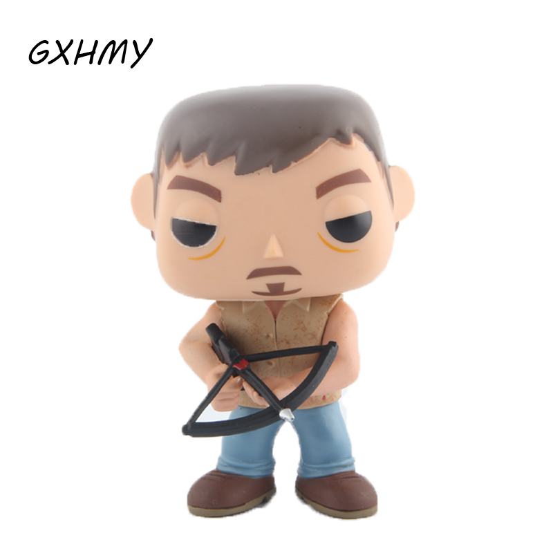 Elsadou #14 Daryl Dixon Walking Dead PVC Action & Toy Figures Children Toys Doll patrulla canina with shield brinquedos 6pcs set 6cm patrulha canina patrol puppy dog pvc action figures juguetes kids hot toys