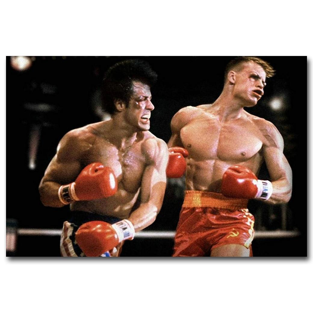 4 48 18 De Descuento Impresión De Póster De Seda De Arte De Boxeo De Rocky Balboa 13x20 20x30 Pulgadas Película Motivadora Decoración De Pared Para
