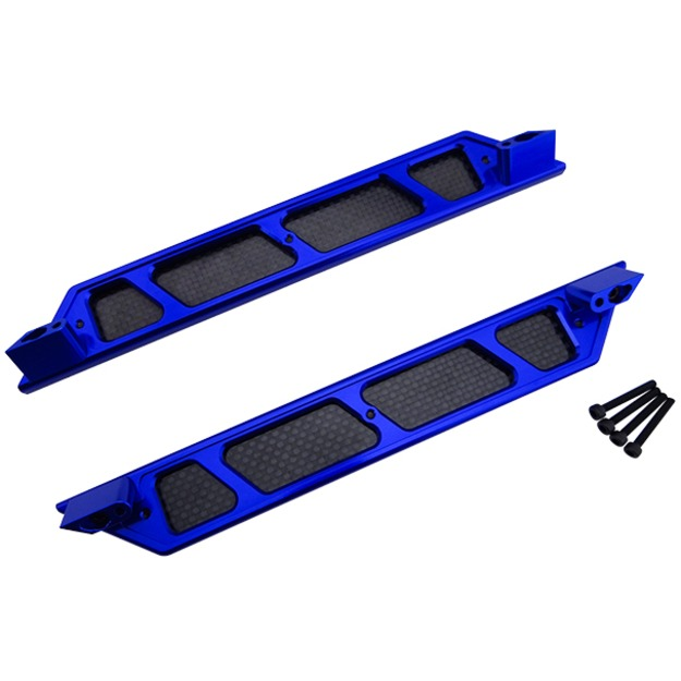 HR rc parts Hop-up Aluminum Side Step Running Boards Traxxas X-Maxx 4 hammered blk hd oval side step nerf bars running boards 05 11 dakota club cab