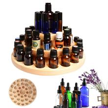 купить High Quality 39 Slots Three Layers Essential Oil Storage Box Circle Wooden Case Aromatherapy Organizer Solid Wood Display Stand дешево