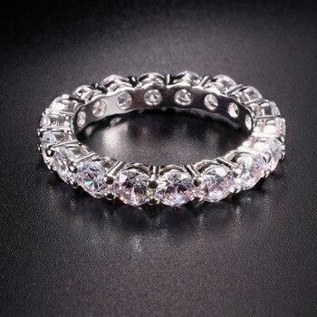 eadae9625d37 Sona no falso bien anillo grabado S925 de plata esterlina anillo de diamante  diseño Original 925 redondo corte 4 garras