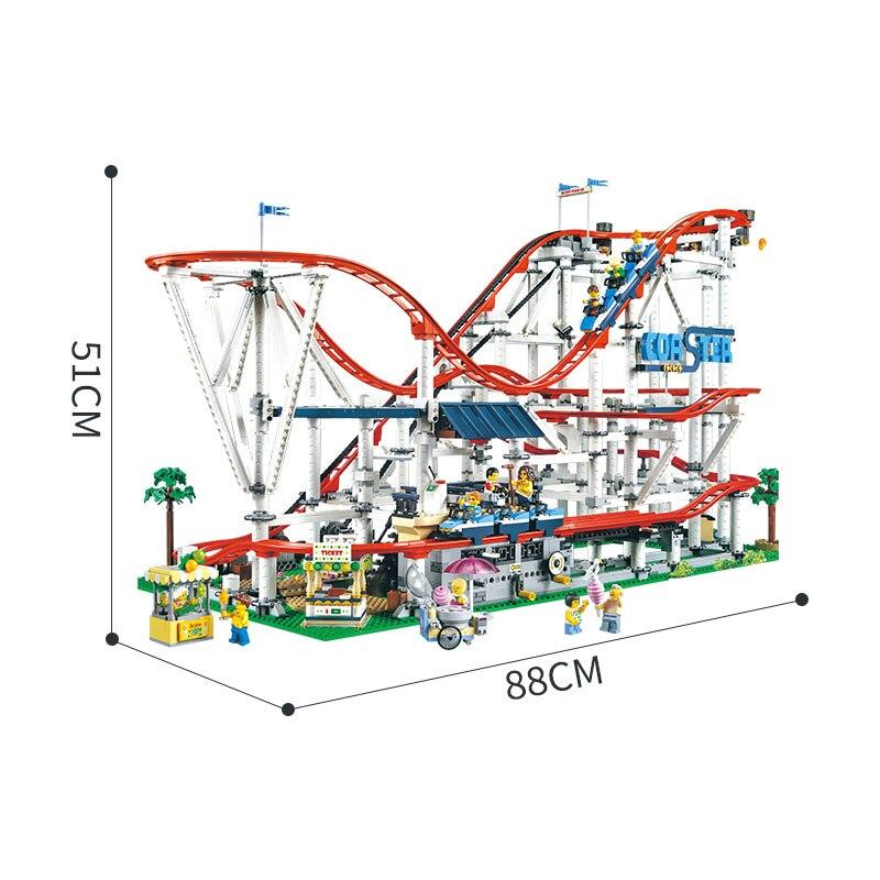 Technic brick parts legoinglys 15039 Roller Coaster Set Building Blocks  creator expert Educational Toys Birthday christmas Gift 1