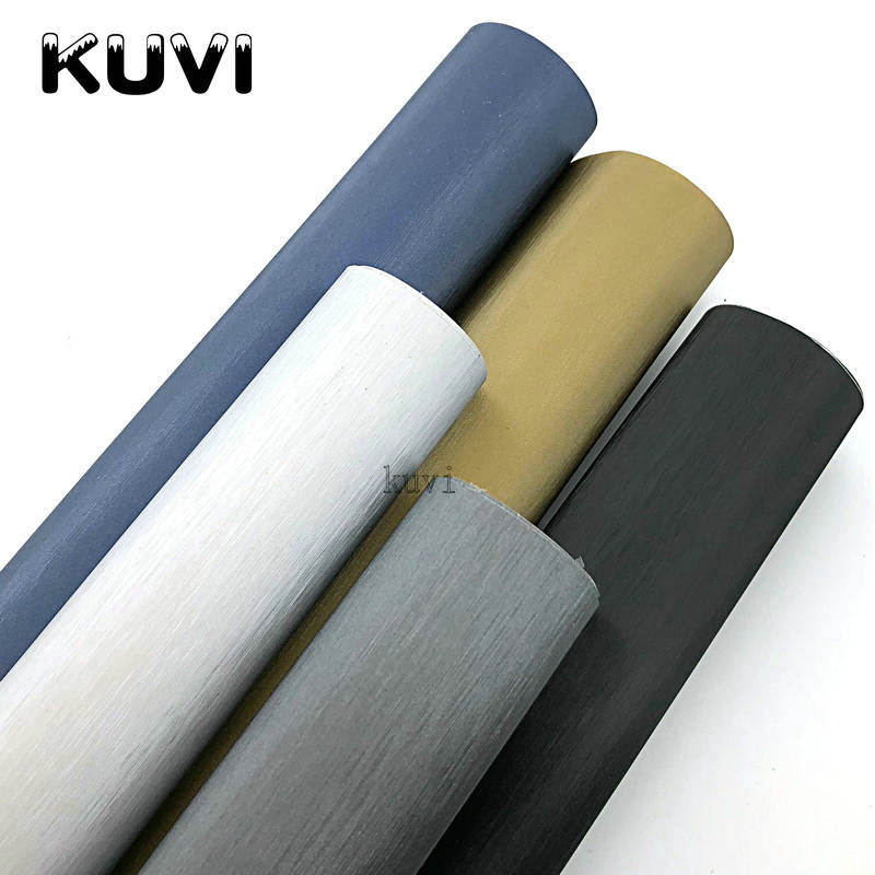 Black Grey Silver Blue Gold Blue Metallic Brushed Aluminum Vinyl Car Wrapping Sheet Film Automobiles DIY Stickers 1.52x28m/Roll