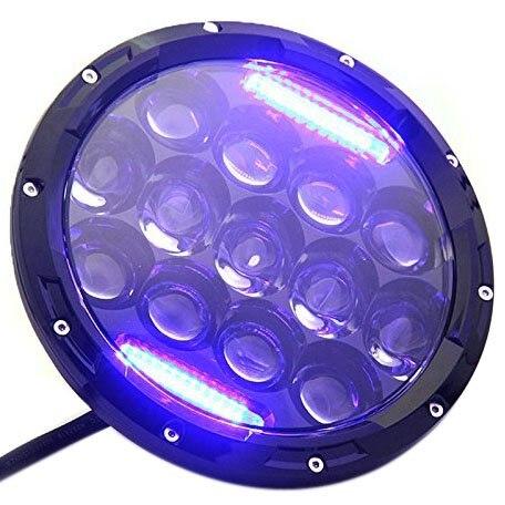 1шт 7 дюймов 75W светодиодный фары Привет/Lo Луч синий белеют сигнала DRL для Харлей Дэвидсон
