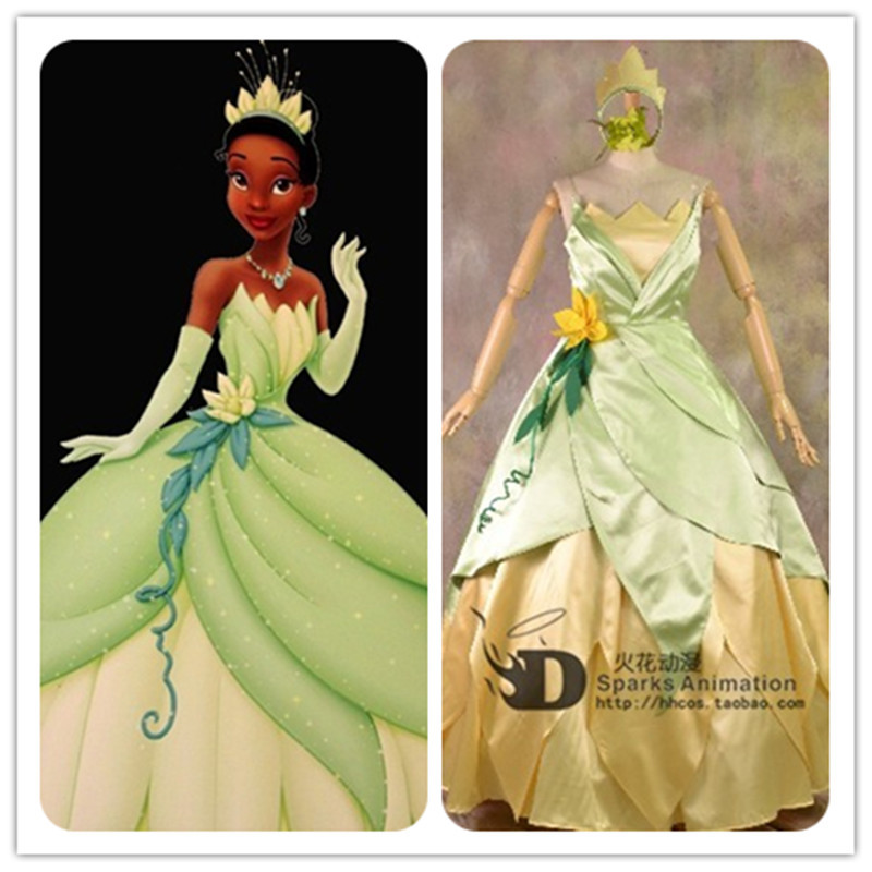 Nouvelle fantaisie Halloween femmes de mariage Cosplay princesse Tiana robe adulte princesse Tiana Costume