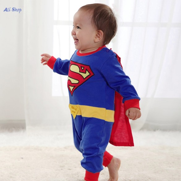 2f4d17e84 Newborn Superman Suit Fancy Dress SuperHero Costume Jumpsuit for Baby  Toddler Kids Girls Boy Clothes Romper Gift Baby Kleding M3-in Clothing Sets  from ...