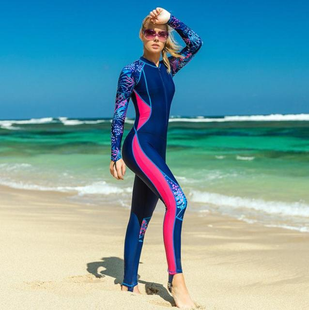 6b16448ace Wholesale Full Body Swimsuit Swim Suit Full Coverage - Long legs Long  Sleeves for Women UV Sun Protection One Piece Rash Guard