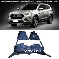 For Hyundai Grand Santa Fe Long Wheelbase 7 seats 2013-2016 Duable Waterproof Auto Custom Car Floor Mats Full Set