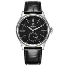 SEKARO Switzerland watches men luxury brand automatic mechanical Simple Bauhaus business fashion trend black Leather strap