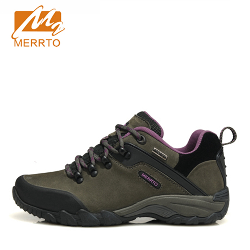 ФОТО 2017 Merrto Womens Walking Shoes Waterproof Outdoor Shoes First Layer For Women Free Shipping 18296