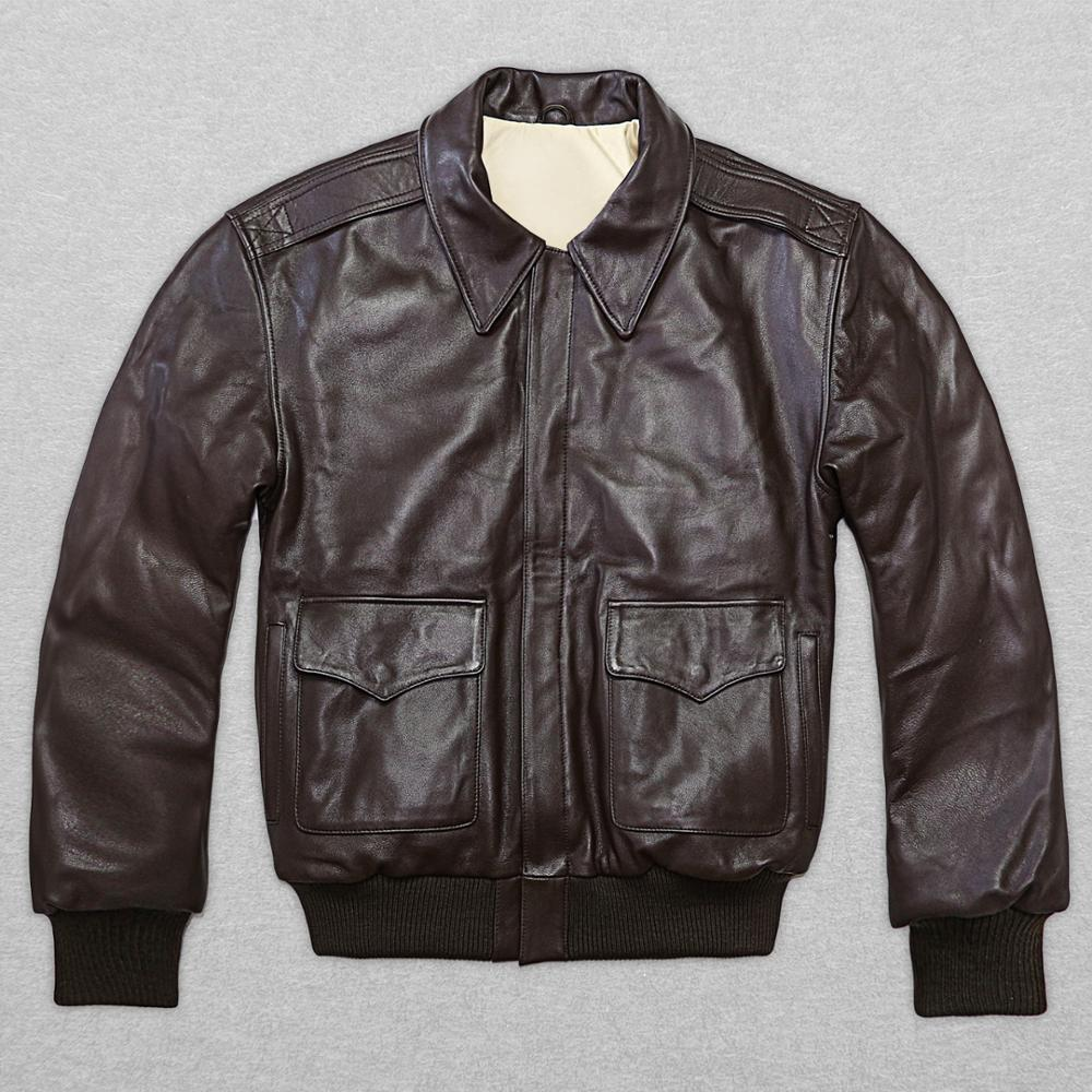 2017 새로운 남성의 정품 염소 가죽 가죽 자켓 지방 느슨한 큰 야드 S - XXL 캐주얼 러시아 겨울 코트 무료 배송