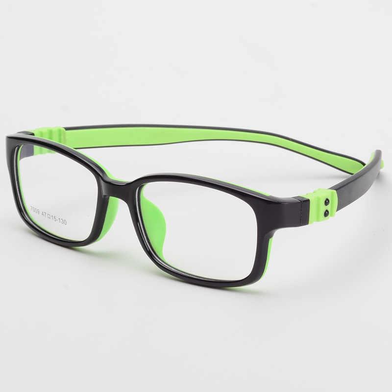 TR90 Das Crianças Óculos de Armação óptica Óculos para Crianças Crianças Óculos De Dioptria Óculos de Proteção Flexível de Borracha de Silicone 7009