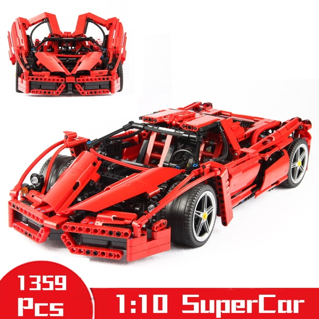 1359pcs Enzo 1:10 Racing Car Building Blocks For Children Jigsaw DIY Construction Toys Compatible Legoings Technic Bricks Gifts
