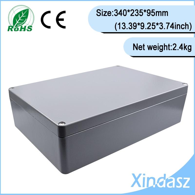 Électronique 2014 nouvelle boîte en aluminium boîte de projet en aluminium profil boîte en aluminium boîtier 340*235*95mm