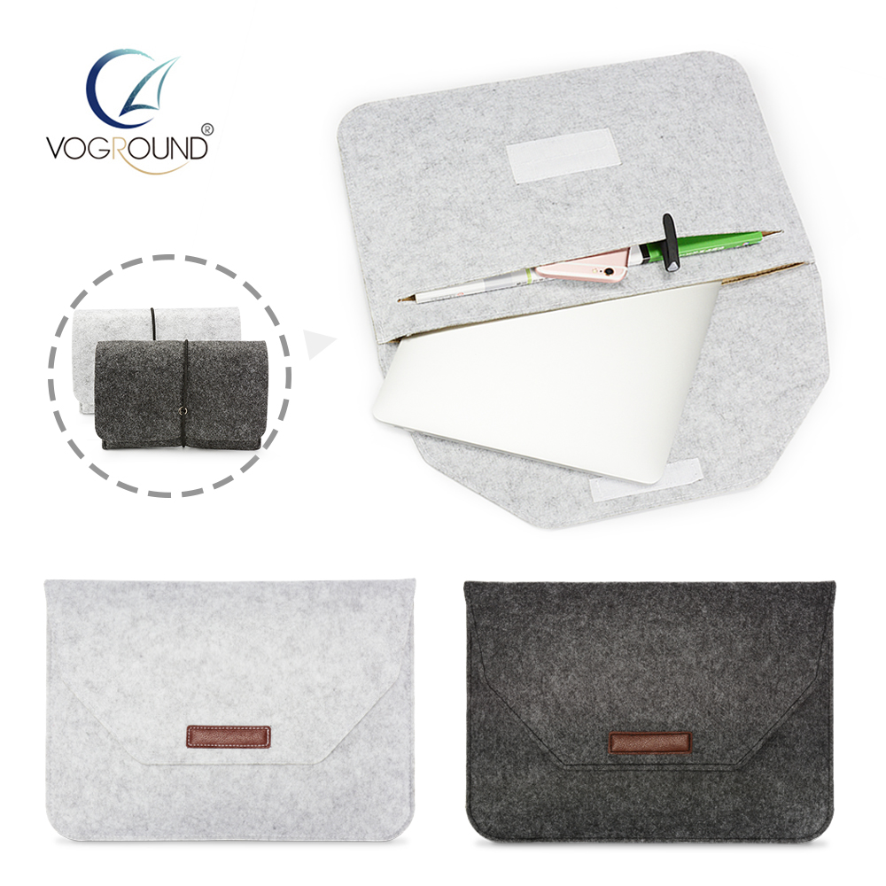 VOGROUND New Soft Sleeve Bag Case For Apple Macbook Air Pro Retina 11 12 13 15 Laptop Touch Bar Cover For Mac book 13.3 inch new leather sleeve protector bag stand cover for macbook air 13 pro retina 11 12 13 15 laptop case for macbook pro 13 touch bar
