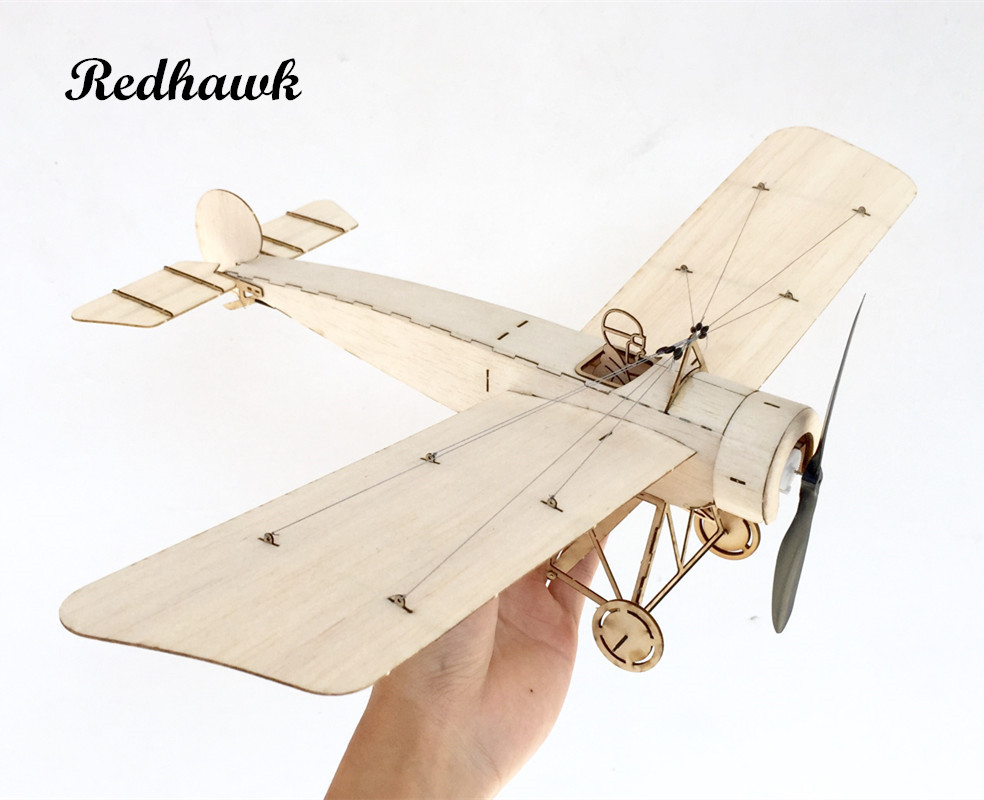 reputable site 546e3 cdca5 Big Discount MininimumRC Plane Laser Cut Balsa Wood Airplane Kit Fokker E3  Frame without Cover Free Shipping Model Building Kit