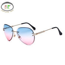 F.J4Z Hot Fancy Classic Womens Sunglasses Fashion Cool Street Style Eye Wear Good Quality Alloy Frame Nice Ocean Gradual Lens