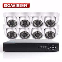 1080P AHD CCTV Camera System 8CH DVR Home Security DIY Kit Indoor Night Vision IR 20M Dome HD 2MP AHD Camera 1080P BOAVISION