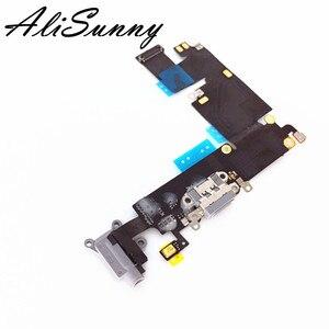 Image 2 - AliSunny 10 adet şarj portu Flex kablo iPhone 6 6G artı 4.7 USB yuva konnektörü şarj kulaklık ses jakı onarım parçaları