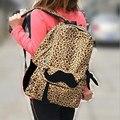 New Casual Women's Velvet  Leopard Backpacks Girl Lady Travel bags Mochila Women  Shoulder Bag