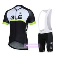 2016 Team Ale Cycling Set Summer Short Sleeve Quick Dry Bike Clothes MTB Jersey Bib Short