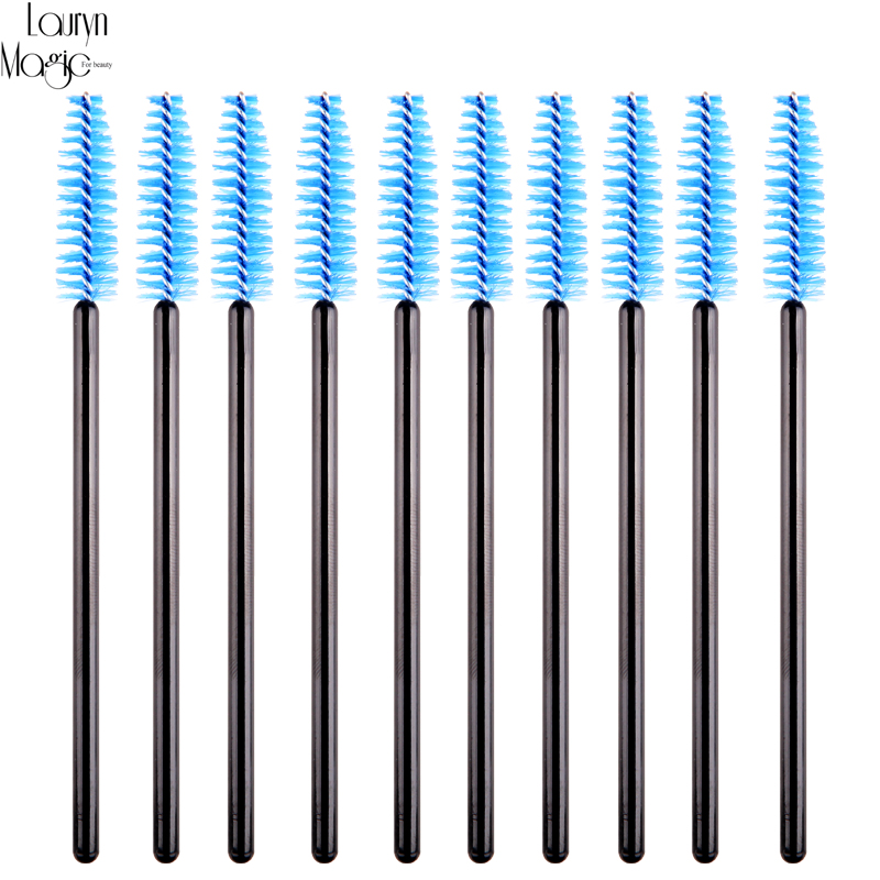 10pcs pack disposable eyelash brush mascara wands for Mascara with comb wand