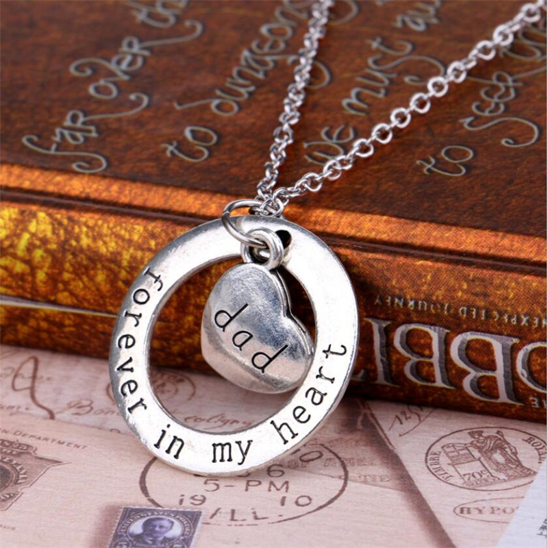 My daughter necklace dog tag stainless steel father daughter pendant 2016 charm fathers day gift love necklaces for daughter son child classic forever in my heart mozeypictures Choice Image