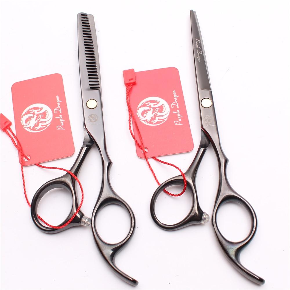 Z1005 5.5'' 16cm Japan Stainless Purple Dragon Hairdressing Scissors Cutting Shears Thinning Scissors Professional Hair Scissors