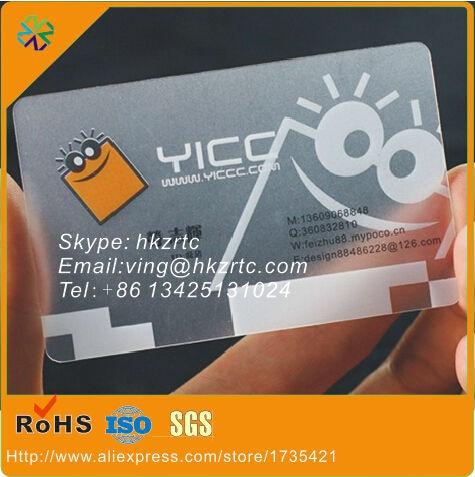 Us 69 99 500 Teile Los Hartplastik Pvc Transparent Material Einseitig Druck Transparent Visitenkarte In Visitenkarten Aus Büro Und Schulmaterial