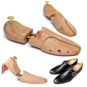 Image 2 - Une paire chaussure civière bois chaussures arbre Shaper support bois réglable chaussures plates pompes extenseur arbres taille unisexe chaussure support