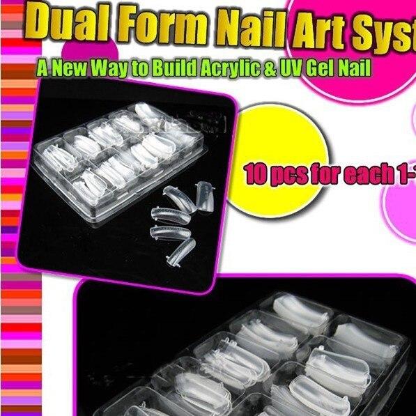 100 X двойная система ногтей Форма для дизайна ногтей