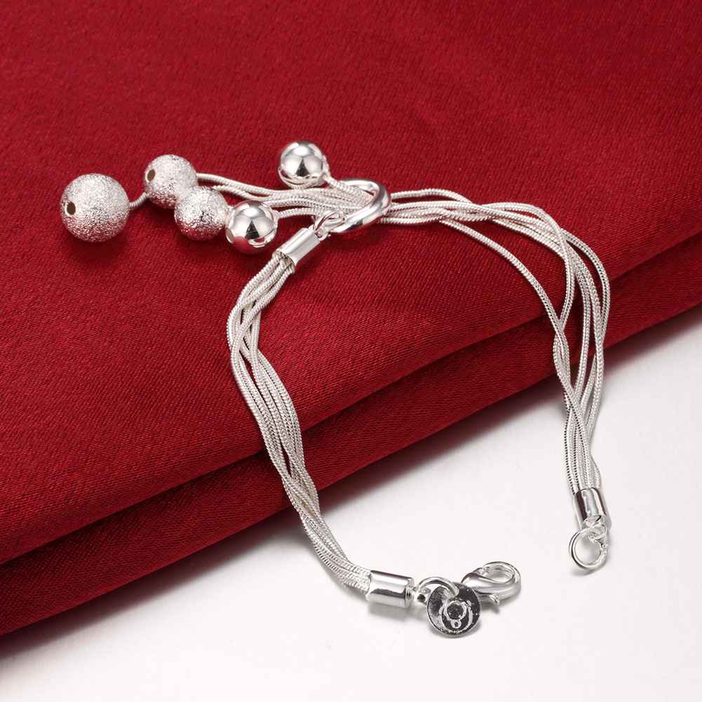 Free shipping silver plated jewelry bracelet fine fashion bracelet top quality wholesale and retail SMTH243