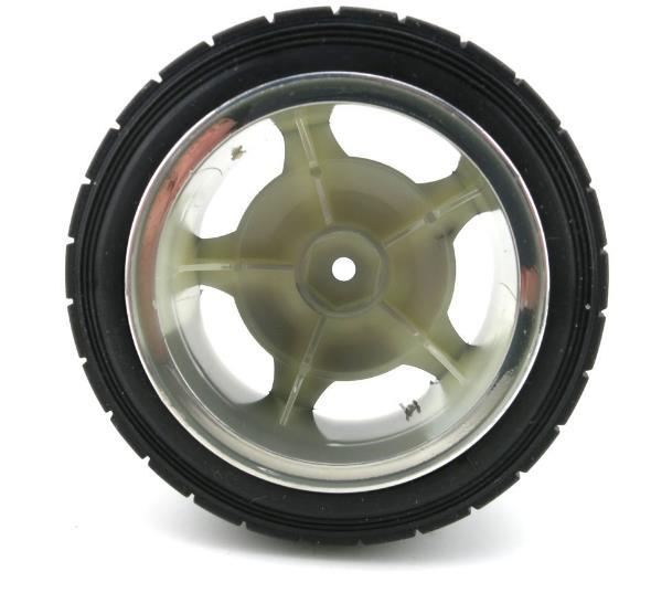 80mm Hexagon Hole Rubber Wheel Diy Car Model Parts Simulation Plastic Tires