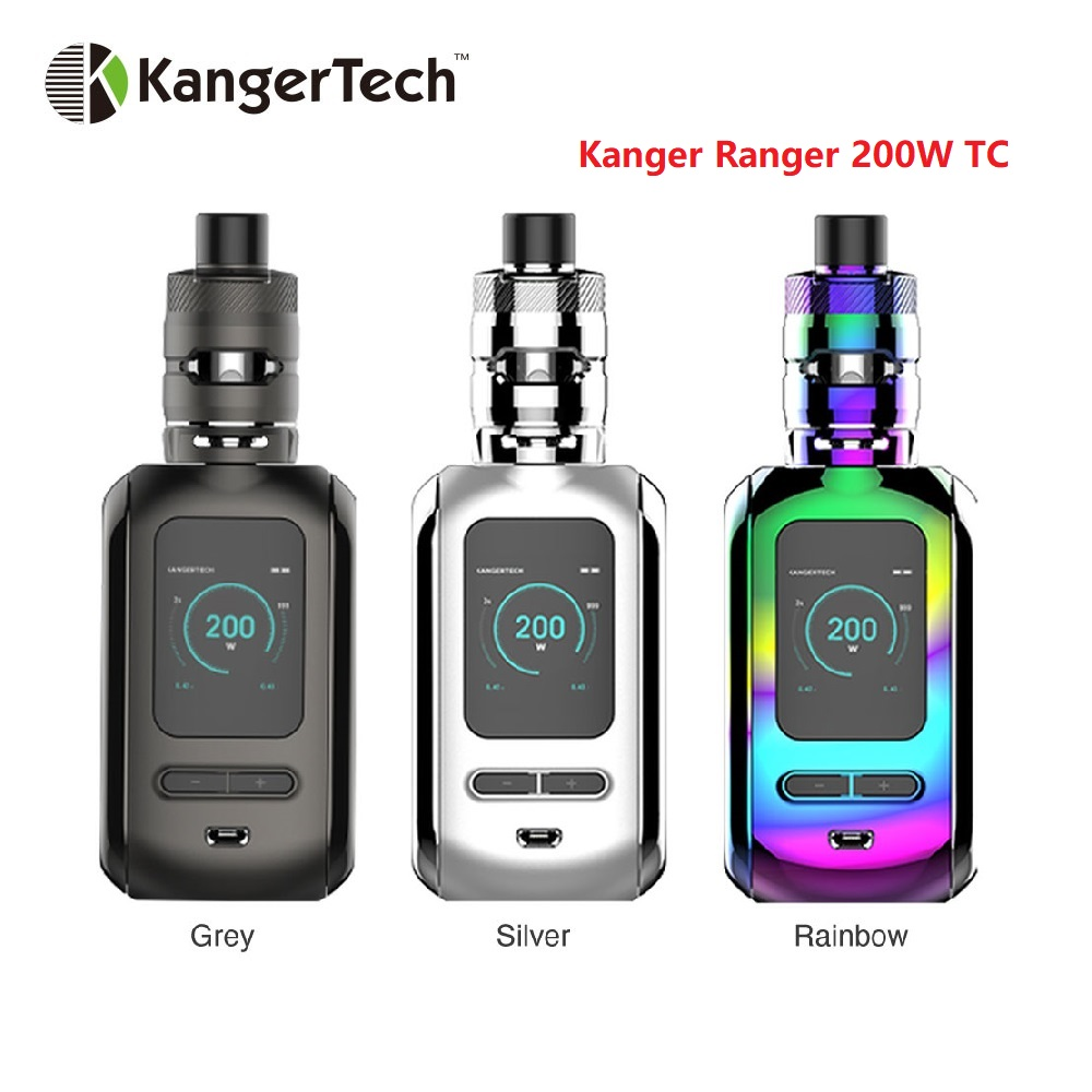 Original Kangertech Ranger 200W TC Kit with Ranger Box Mod 3 8ml Ranger Subohm Tank E