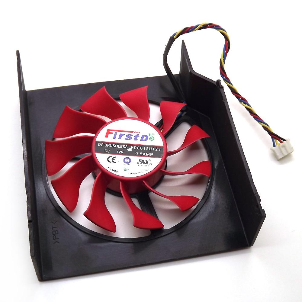 Envío Gratis FD8015U12S 75mm 12V 0.5A 4 Ventilador Enfriador de - Componentes informáticos - foto 3
