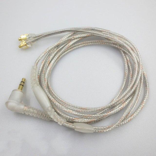Câble MMCX pour Shure SE215 SE315 SE425 SE535 SE846 plaqué or casque écouteurs câbles de remplacement pour iPhone xiaomi