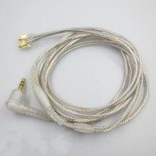 MMCX Cable đối Shure SE215 SE315 SE425 SE535 SE846 Mạ Vàng Tai Nghe Tai Nghe Headphone Thay Thế Cáp cho iPhone xiaomi