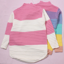 Rainbow Sweater  Loose Sweater