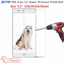 Xxins 2PCS/lot Tempered Glass For Huawei Ascend P9 High definition smartphone Screen Protector Protective Film for EVA-AL00 цена