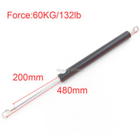 200mm Long Stroke 60KG 132lb Force Gas Springs For Funiture Lift M8 Auto Gas Springs For