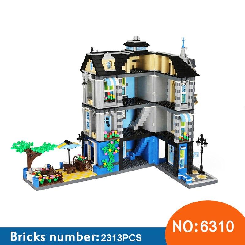 Wange 6310 2313 шт. магазин на углу мини блоки Архитектура Building Block игрушки алмазные блоки Diy Строительство Мини Микро-блоков