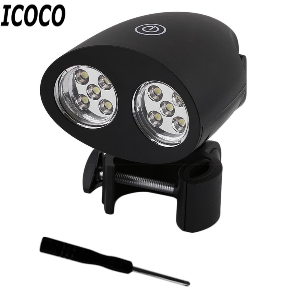 ICOCO Super Bright Adjustable 10 LED BBQ Grill Light Outdoor Handle Mount Clip Camp Lights Waterproof Heat Resistance Lamp Sale