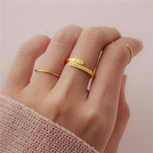 Personalized Couple Rings Tow Name Gold Anillos Custom Stainless Steel Double Engraving Ring For Women Men Jewelry BFF