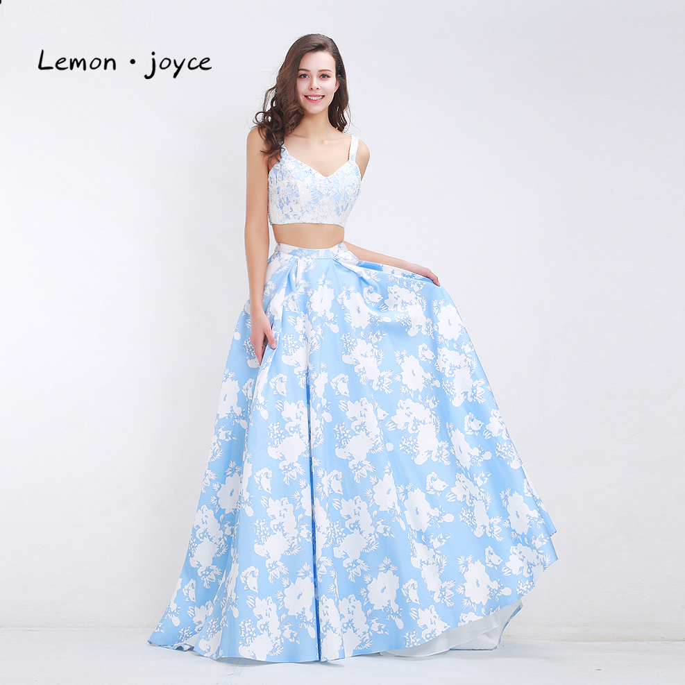 Summer Evening Dresses 2018 Pinted Flower Pattern Sexy Long Party ...