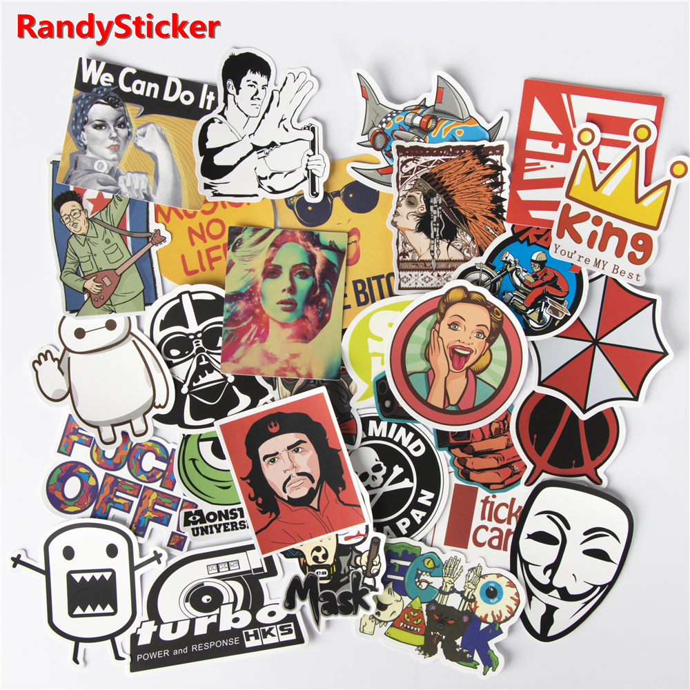 Randysticker 30 Pcs Drop Shipping Toy Styling Home Decor