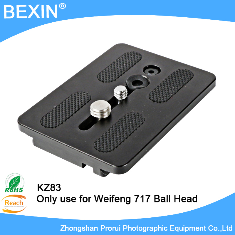 NEW Quick Release Plate for weifeng 717 EI-717A Video Tripod Head tripod Monopods Quick Shoe Free Shipping