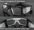 Lente Asféricos 1.56 miopía óptico + marco; anti-impacto de fútbol baloncesto voleibol fútbol miopía miopía gafas deportivas,
