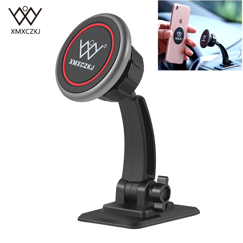 XMXCZKJ Universal Magnetic Phone Holder Car Mount Holder Stand Stick on Car Dashboard For iPhone 6 7 8 Smartphone Magnet Support